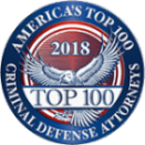 americas-top-100-criminal-defense-attorneys-2018-badge